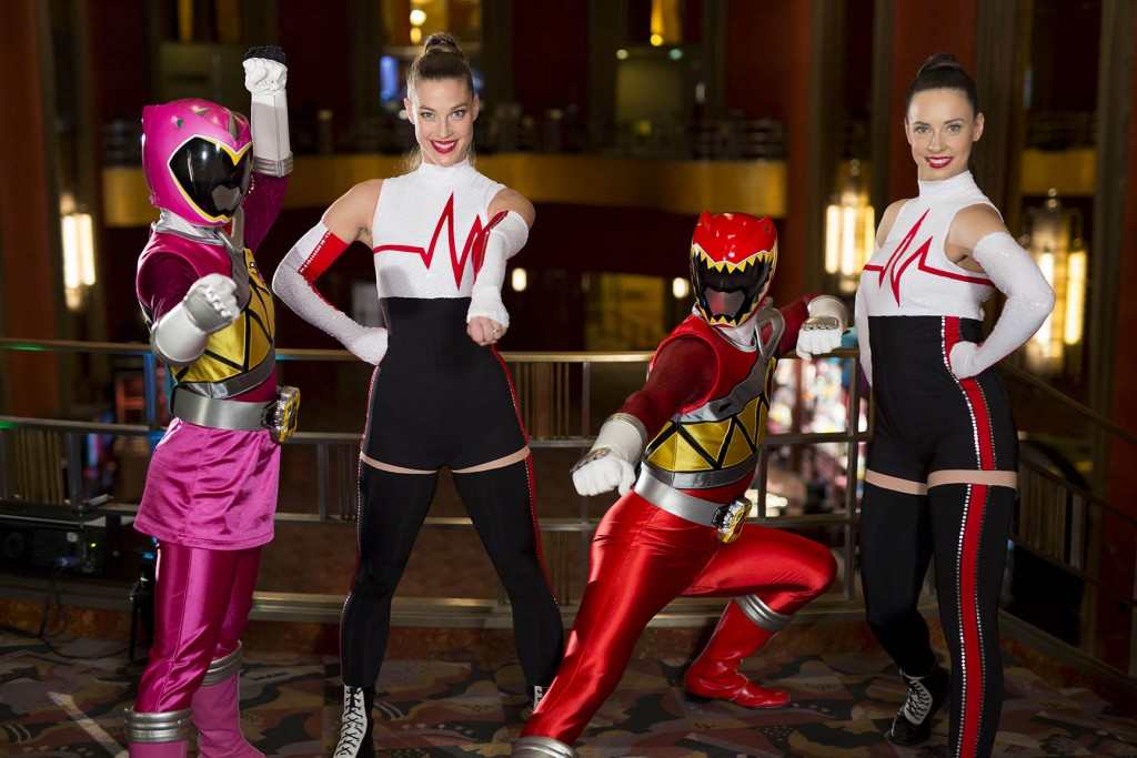 Rockettes with Power Rangers