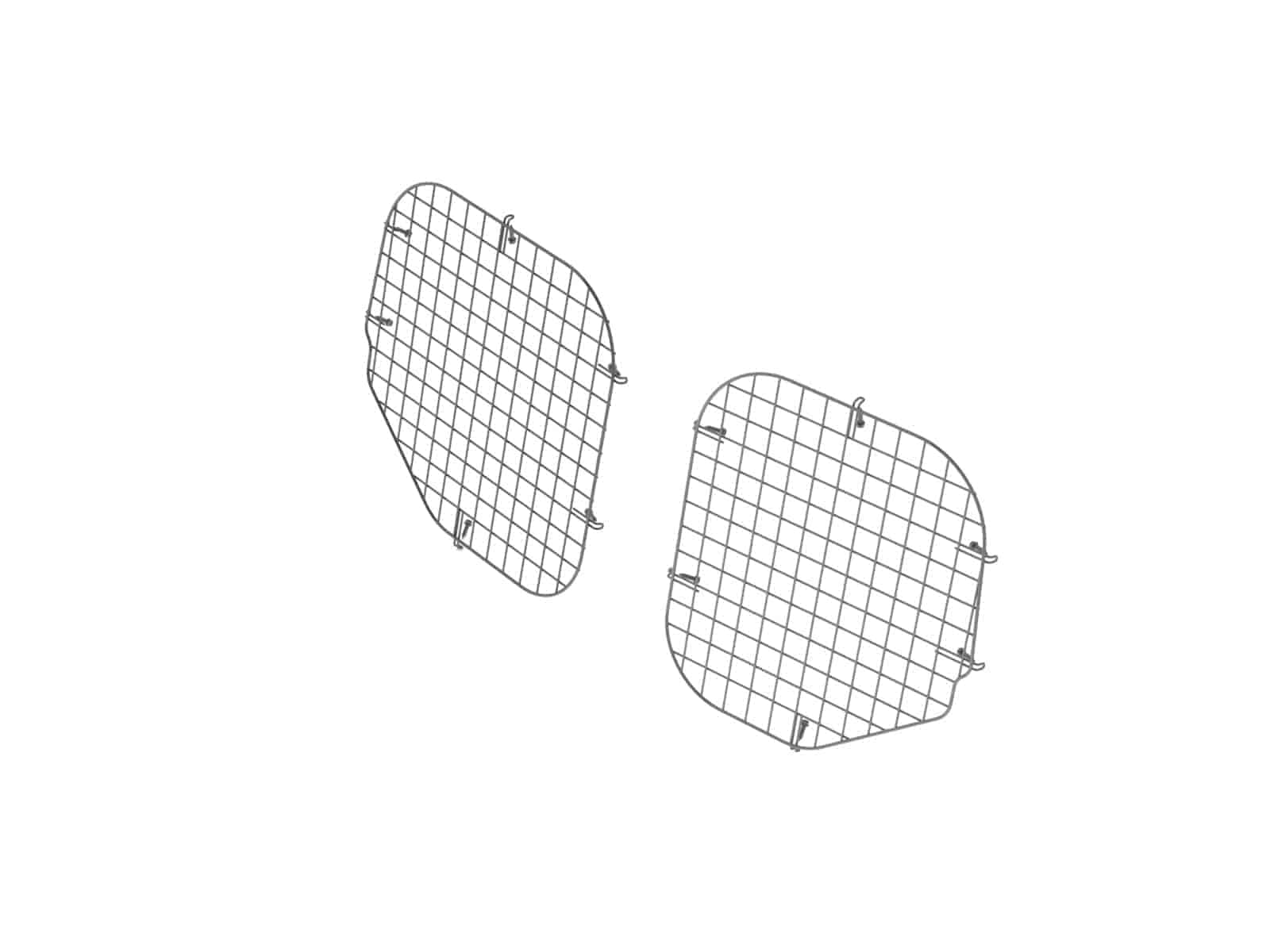 Set Of 2 Rear Window Grills Steel Wire Painted Black Ford Transit Connect