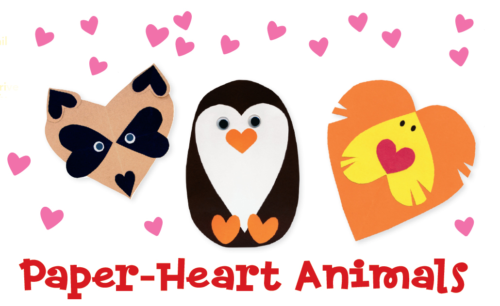 paper heart animals
