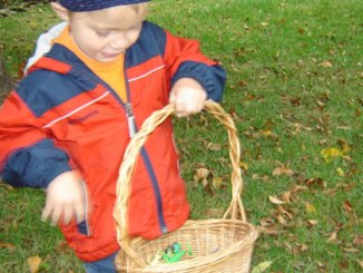Boy with basket
