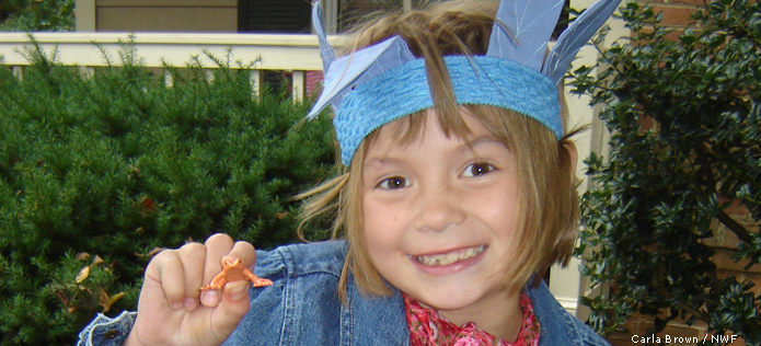 Girl with toy bug