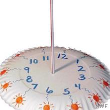 Plate sundial