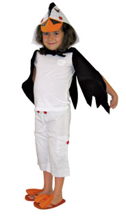 Puffin costume step 3