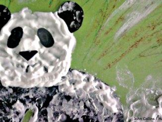 Puffy paint panda