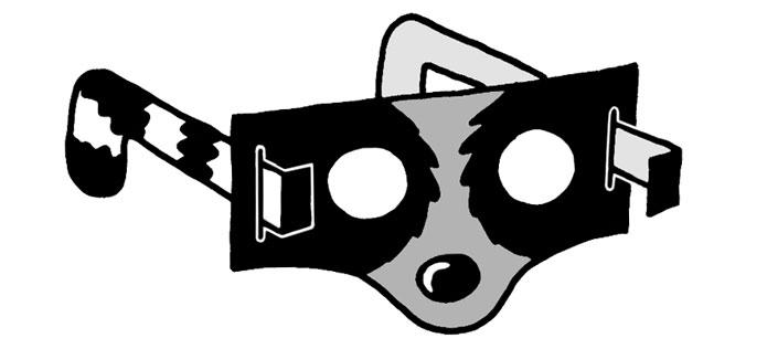 Raccoon glasses