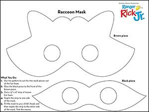 Raccoon mask pattern