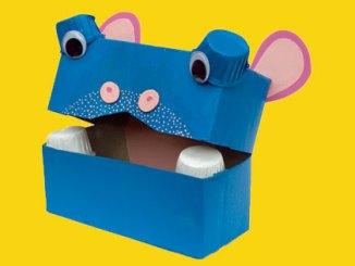 hippo crayon holder