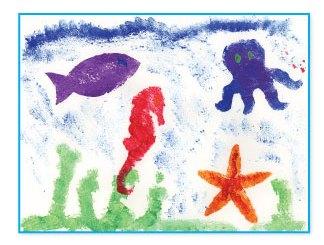 Ocean animal stencils