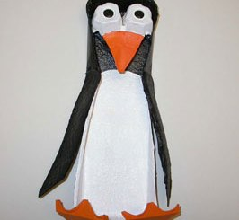 Penguin pencil holder step 4