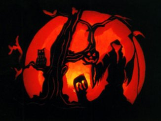 pumpkin carving scene