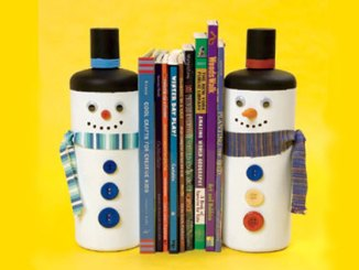 snowmen bookends