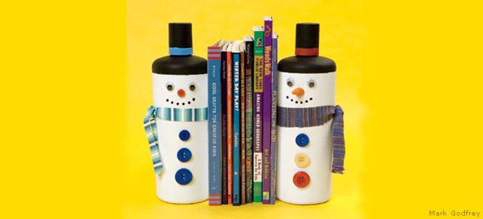 snowmen bookends