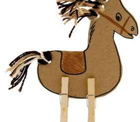 clothes pin horse