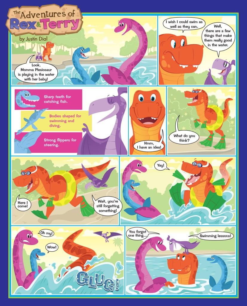 Plesiosaurs Cartoon