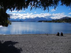 End of the main drag in Wanaka