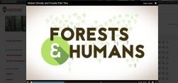 Learning about Forests and Humans through course videos