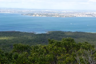 Rangitoto Wharf from Rangitoto summit