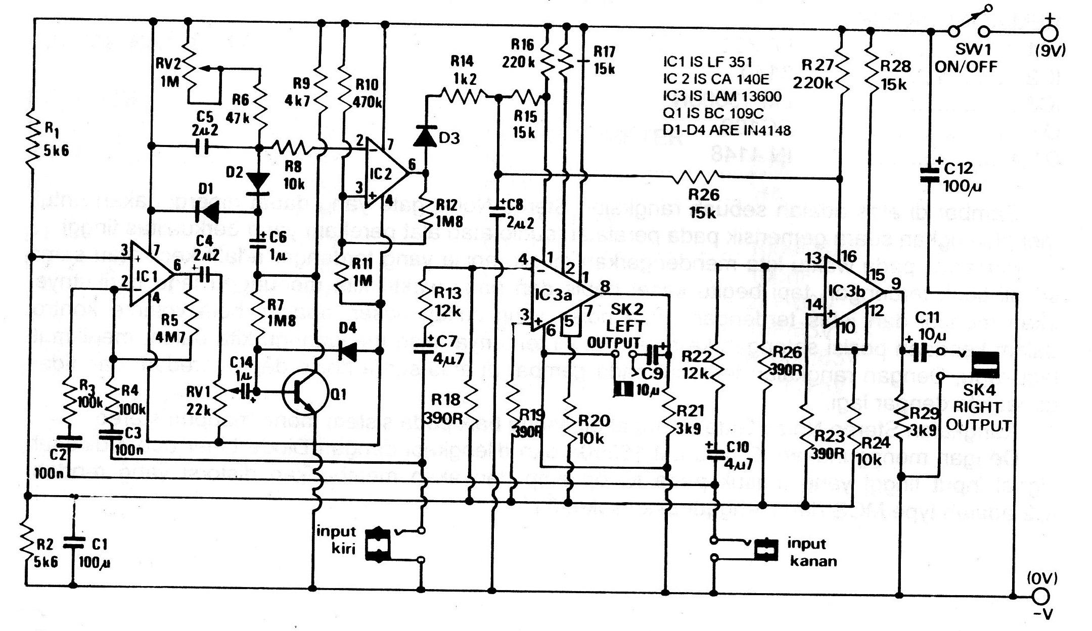 Rangkaian Mini Audio Amplifier Gambar Skema Rangkaian