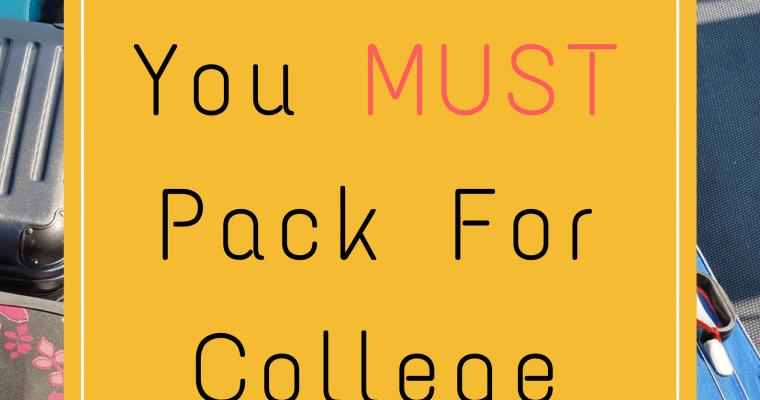 10 Items You Must Pack for College