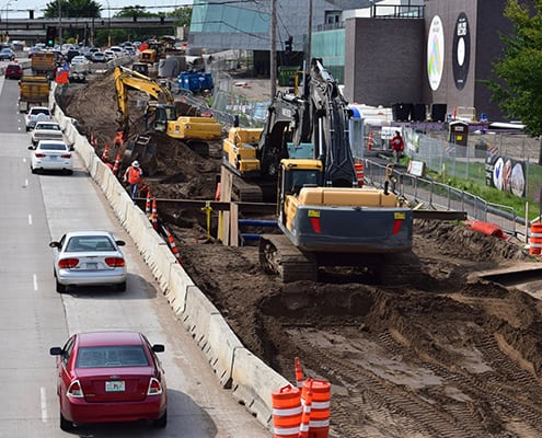 freeway under construction