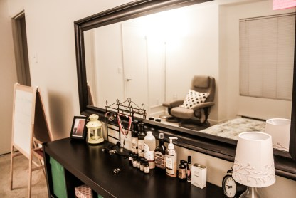 Perfume, hydrasol & essential oils. Lets call it a scented dresser for now?