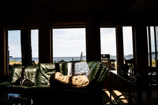This was our home for two nights, overlooking the ocean with a private beach front.