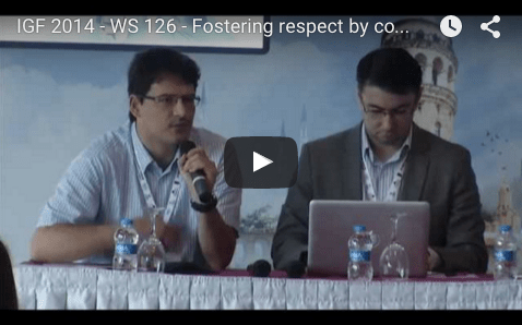YouTube video of IGF 2014 - WS 126 - Fostering respect by companies for internet users rights