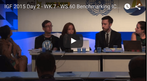 YouTube video of 2015 IGF workshop Benchmarking ICT companies on digital rights