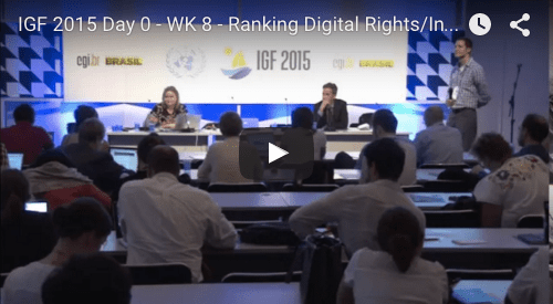 YouTube video of 2015 IGF RDR/Internews session on Using the Corporate Accountability Index for Research and Advocacy