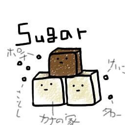 自宅に置いてある砂糖のひとつぶひとつぶに名前をつけて可愛がっている