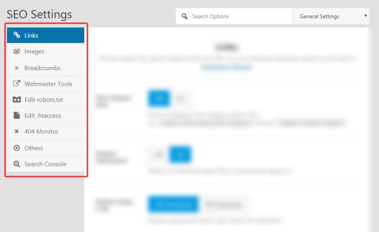 general settings tab
