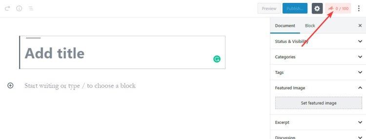 Як відкрити параметри математичного блоку Оптимізація тексту для пошукових систем
