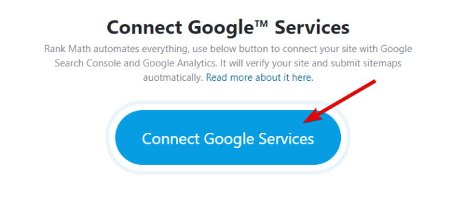 Click The Button To Connect Google Services