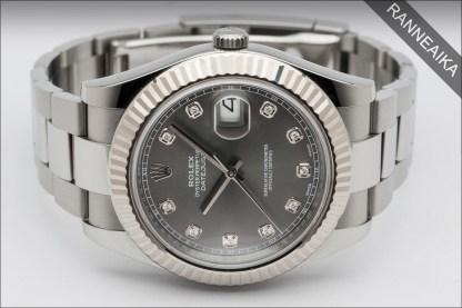 ROLEX Datejust II Rhodium Diamonds ref. 116334
