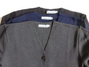 WAME cardigan stock shades - Charcoal, Dark Midnight and Black