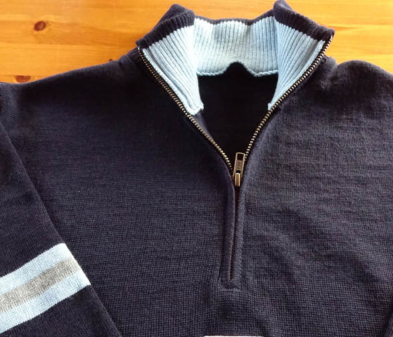 Sweaters in club or team colours