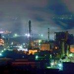室蘭工場夜景(大沢町より)