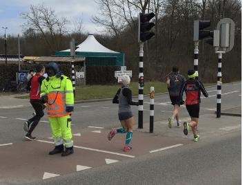 Koen op 10 k in halve Utrecht
