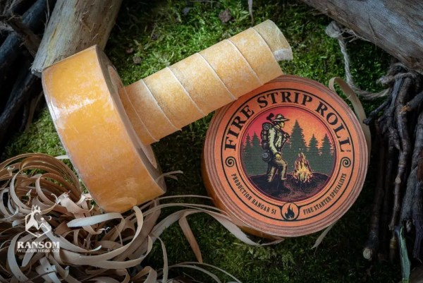 Fire Strip Roll kit tinder unrolled