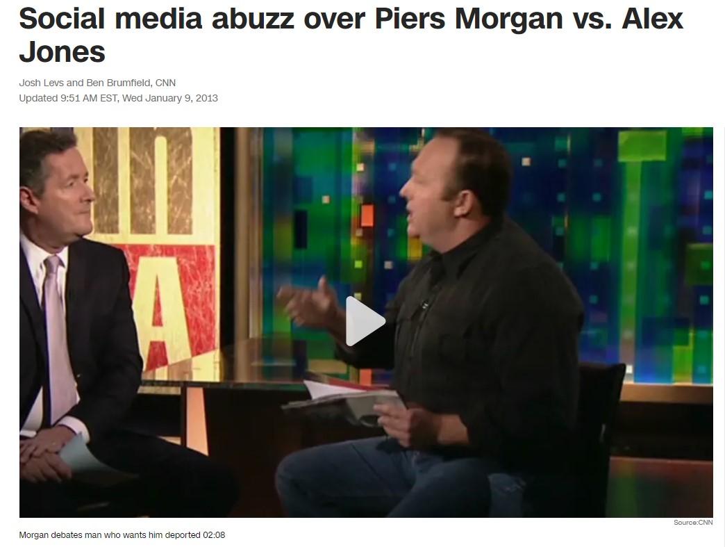 Piers Morgan vs. Alex Jones