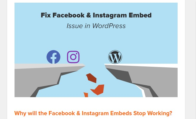 Facebook/Instagram Embeds