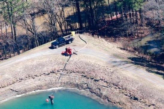 Pumping truck at the coal ash pond in Moncure | wncn.com