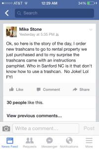stone trash cans