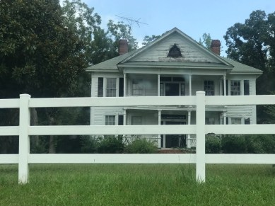 The old Wesley McIver house on Buffalo Church Road