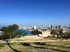 Tel Aviv Skyline beyond the beach
