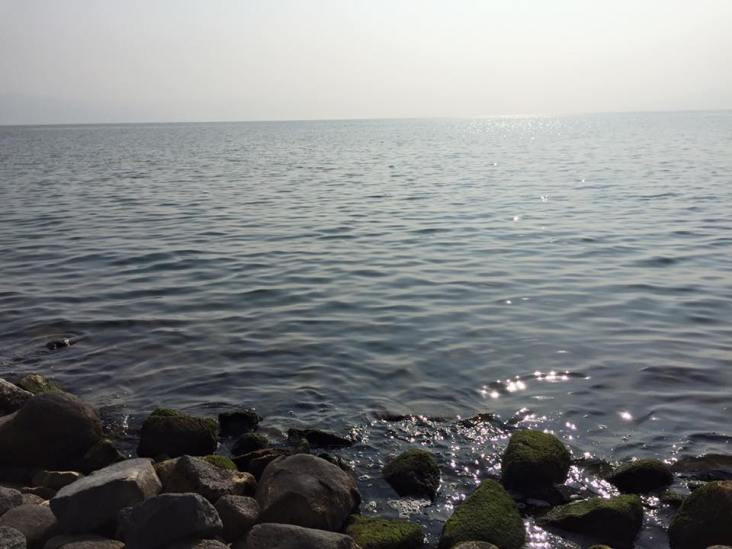 """Sea of Galilee: """"Then he arose, and rebuked the winds and the sea; and there was a great calm"""" (Matthew 8:26)."""