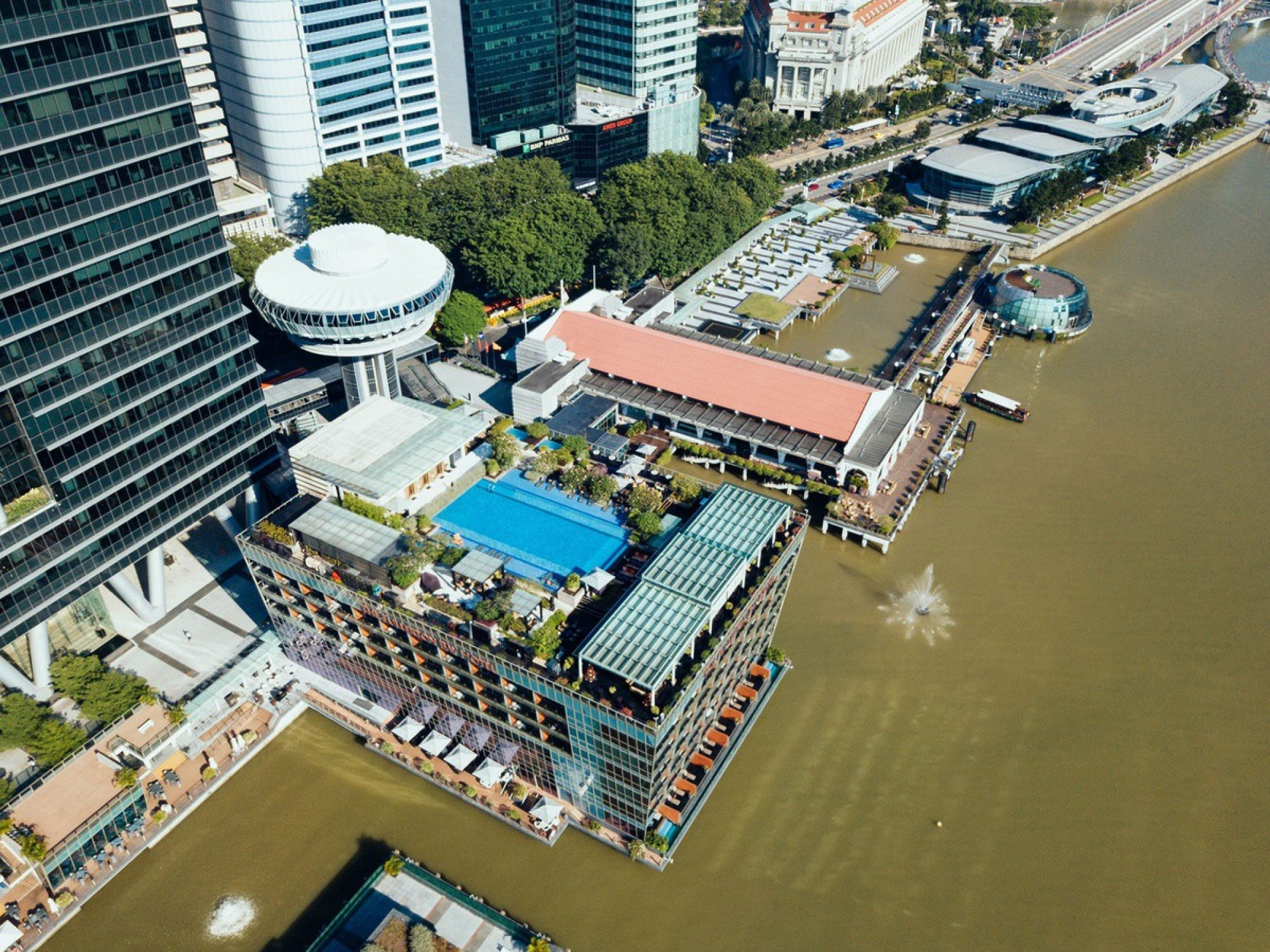 Waterfront building complex in Singapore