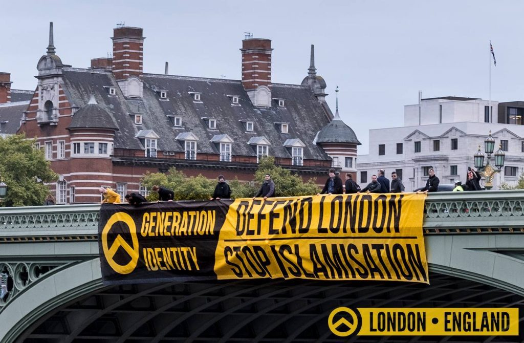 Generation Identity, a white supremacist movement in the UK (GI)