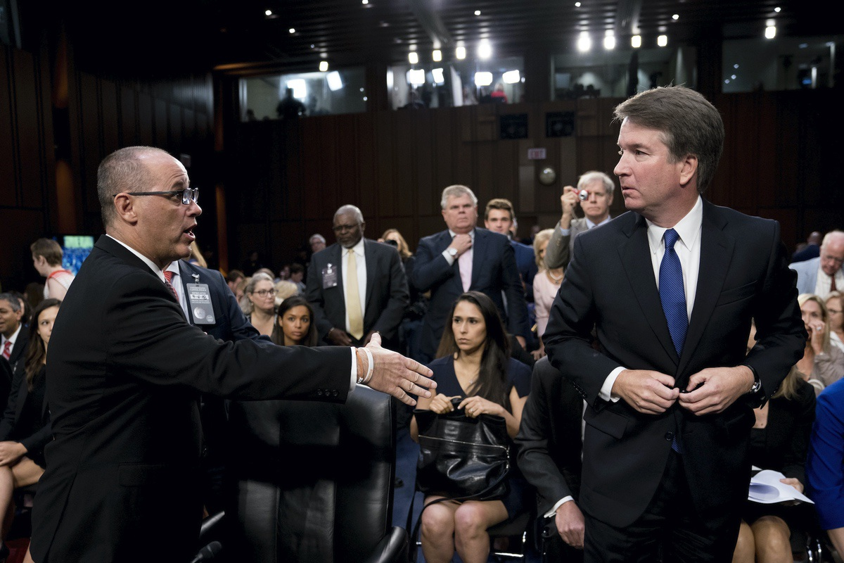 Parkland father rejects White House excuses after Kavanaugh fails to shake hands