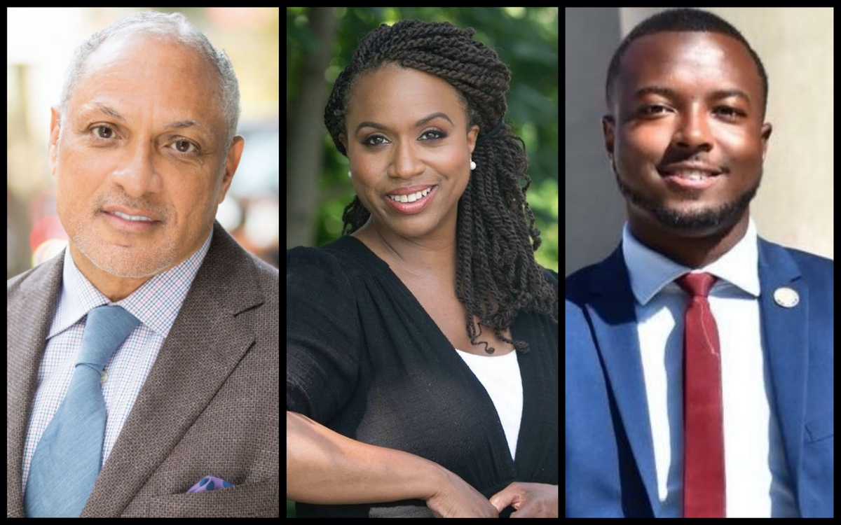 Senate Candidate Mike Espy, Representative-elect Ayanna Pressley, and State Legislator Jeramey Anderson